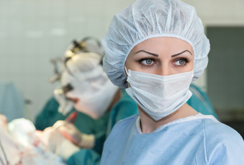 Nurse in operating room