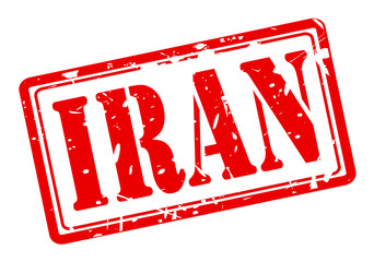 IRAN red stamp text