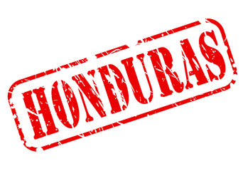 Honduras red stamp text