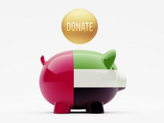 United Arab Emirates. Donate Concept