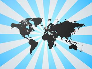 世界地図G5 - シルエット