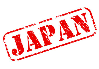 Japan red stamp text