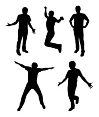 active people silhouette vector
