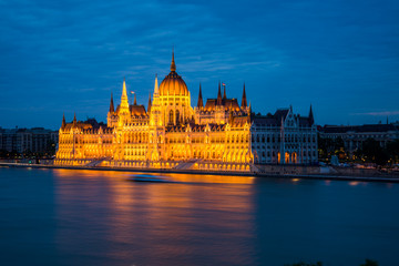 Budapest  Parliament, night view.