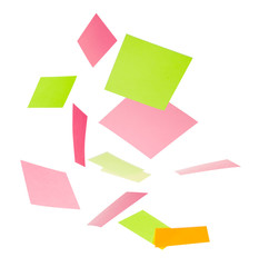 Multicolor falling stick notes
