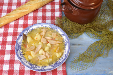 Marmite or marmitako stewe potatoes and  albacore