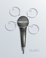 Vector modern music infographics.