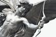 Leinwanddruck Bild - Detail of Eros Statue