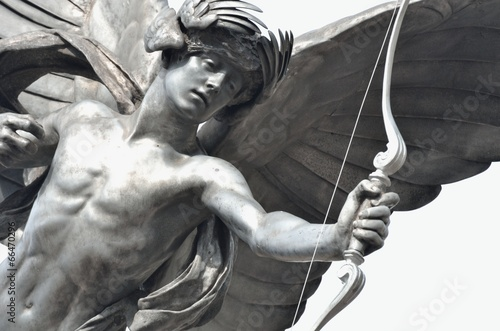 Leinwandbild Motiv Detail of Eros Statue