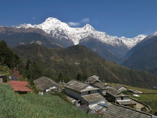 View from Ghandruk, Annapurna South