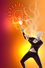 Nachdenken Idee Einfall Birne Glühbirne Geistesblitz