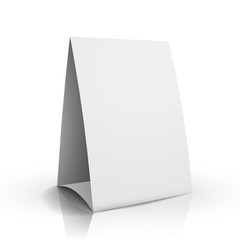 3d vector blank white paper table card