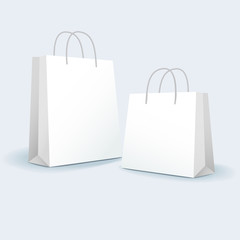 vector illustration of blank paper bags