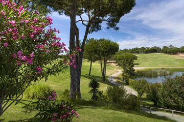 A Landscape of a golf course in Vilamoura