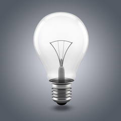3d image of light bulb