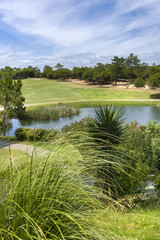 Small lake on the golf course in Portugal