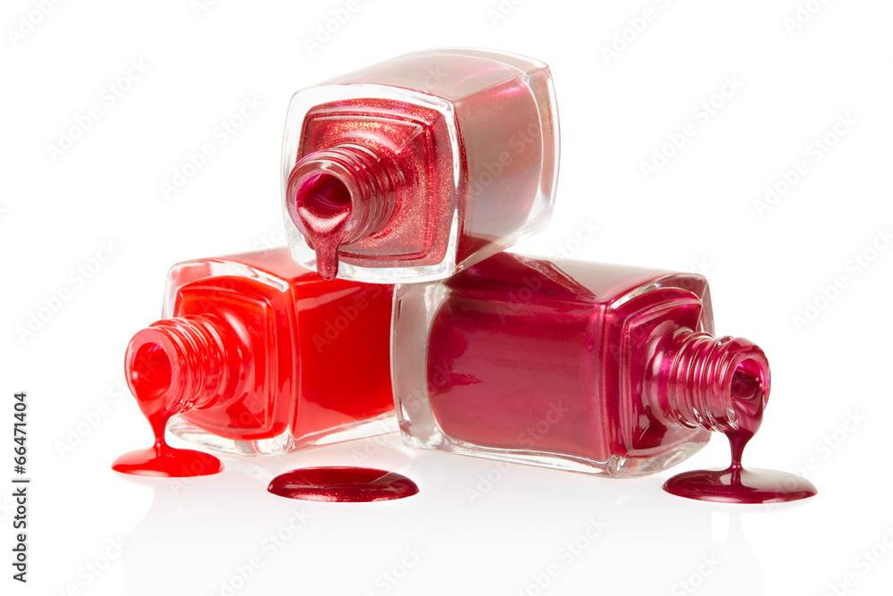 polerować czerwony makijaż - powiększenie