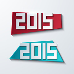 Vector modern 2015 banners. new year background.
