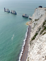 The Needles Isle of Wight landmark chalk rocks