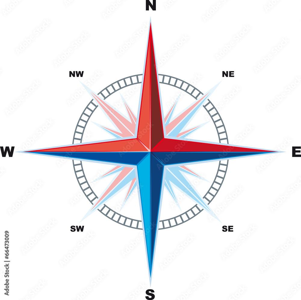 północ rose strzałka - powiększenie