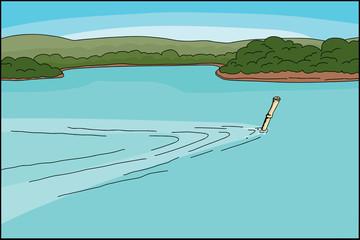 Bamboo Snorkel Diver