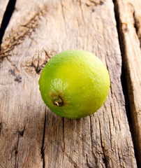 lime on wooden board.