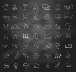 Education icons set. Vector format