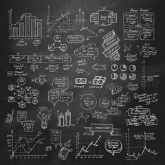 Hand drawn infographic elements. Vector format