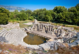Amphitheater of the ancient Baptistery at Butrint, Albania.