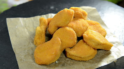 Portion of homemade Chicken Nuggets as loopable full HD video