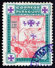Postage stamp Paraguay 1933 Caravels of Columbus
