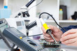repair of electronic devices, soldering parts - 66475809