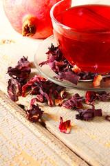 pomegranate tea.