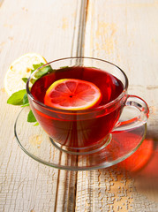 pomegranate tea with lemon.