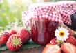 Strawberry jam home made - 66477643