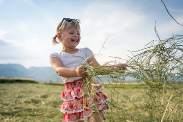 Beautiful Young Girl On Summer Meadow