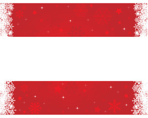 Christmas banner with red background