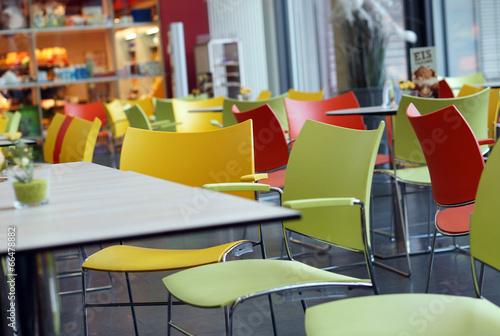 Leinwandbild Motiv Im Bistrocafé