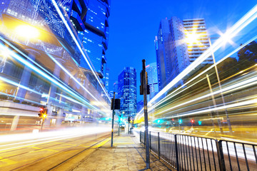 HongKong traffic light trails