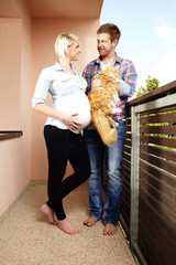 Couple and their pet - waiting for newborn