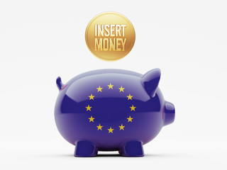 European Union Insert Money Concept