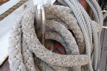Ropes on deck