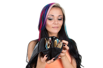woman with Money wallet