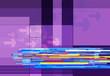 graphic lines purple background