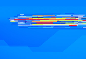 graphic lines blue background