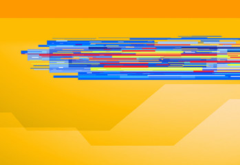 graphic lines orange background
