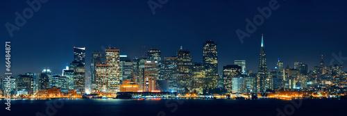 Fotobehang Historisch geb. San Francisco skyline