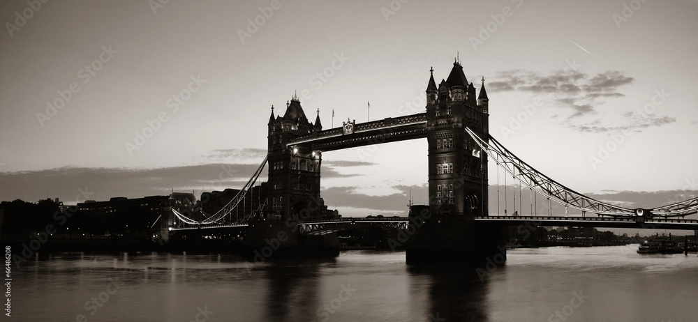 krajobraz miasta most gród - powiększenie