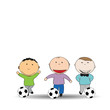 Happy kids and soccer