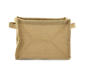 empty the wearing of sackcloth isolated on white background